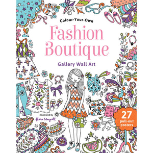 Colour Your Own Fashion Boutique Gallery Wall Art