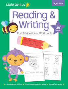 Reading and Writing Fun Educational Workbook