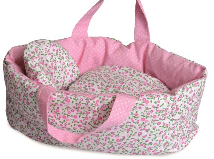Egmont Big Carry Cot With Flower Bedding