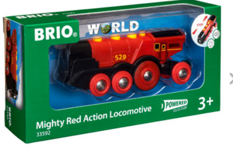 Brio Mighty Red Action Locomotive 33592