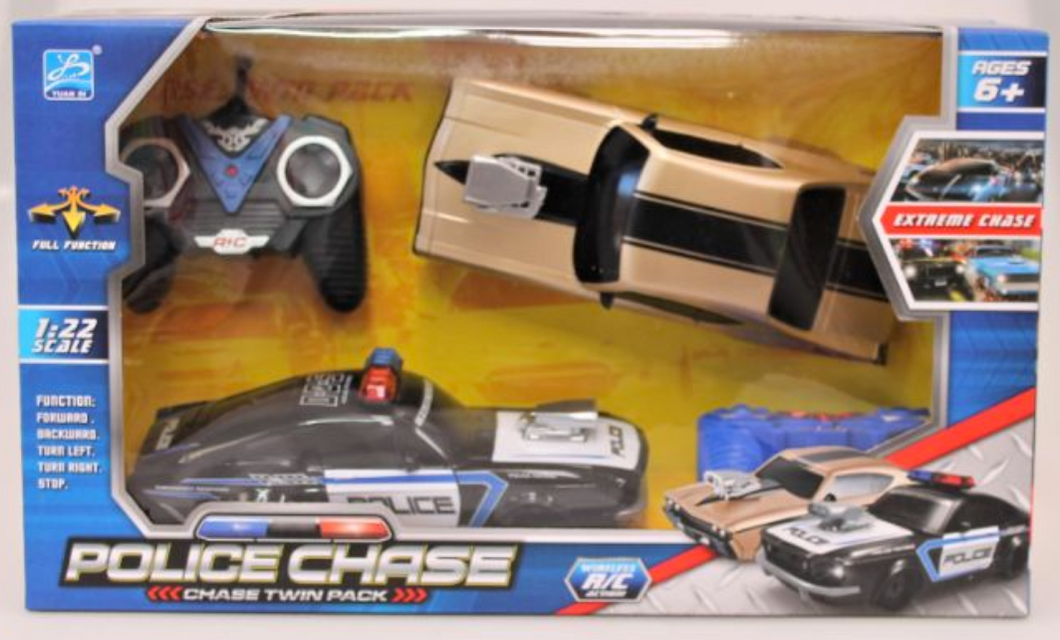 Police Chase Twin Pack R/C Cars