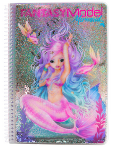 Fantasy Model Mermaid Colouring Book