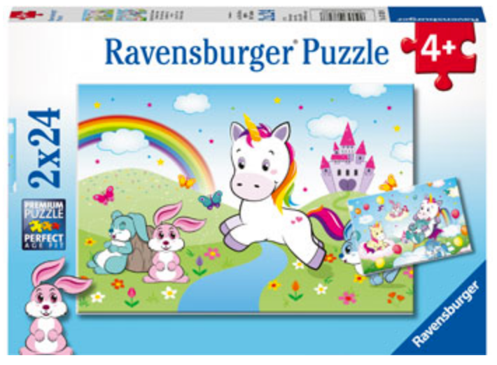 Ravensburger 2 X 24 Piece Fairytale Unicorn Puzzles
