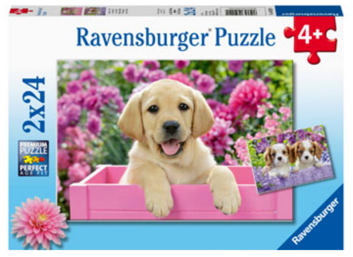 Ravensburger 2 X 24 Piece Puppies Puzzles
