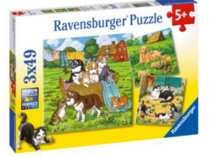 Ravensburger 3 X 49 Piece Cats & Dogs Puzzles