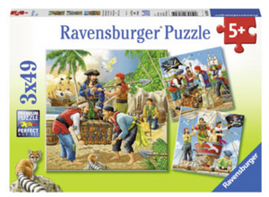 Ravensburger 3 X 49 Piece Adventure on the High Seas Puzzles