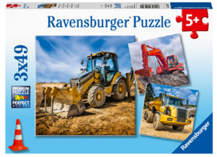 Ravensburger 3 X 49 Piece Diggers at Work Puzzles