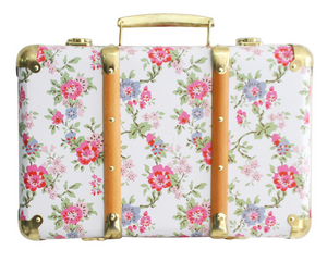 Alimrose Vintage Style Carry Case Cottage Rose
