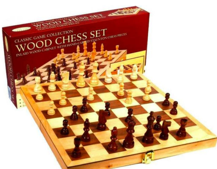 Chess Set - Wooden - Classic Games Collection