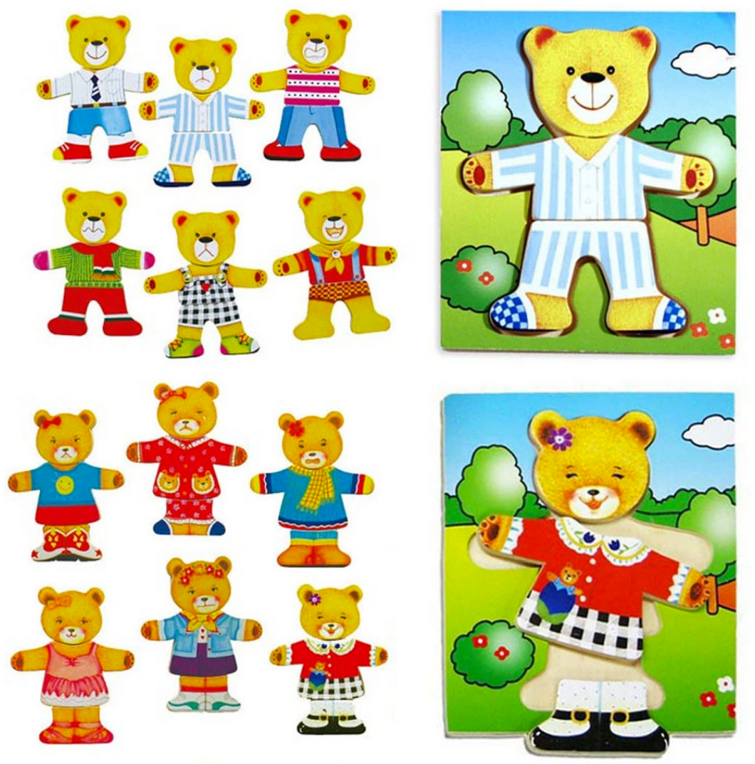 Fun Factory Dress Up Bear Puzzle