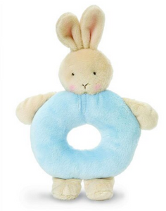 Bunnies By The Bay Ring Rattle Blue