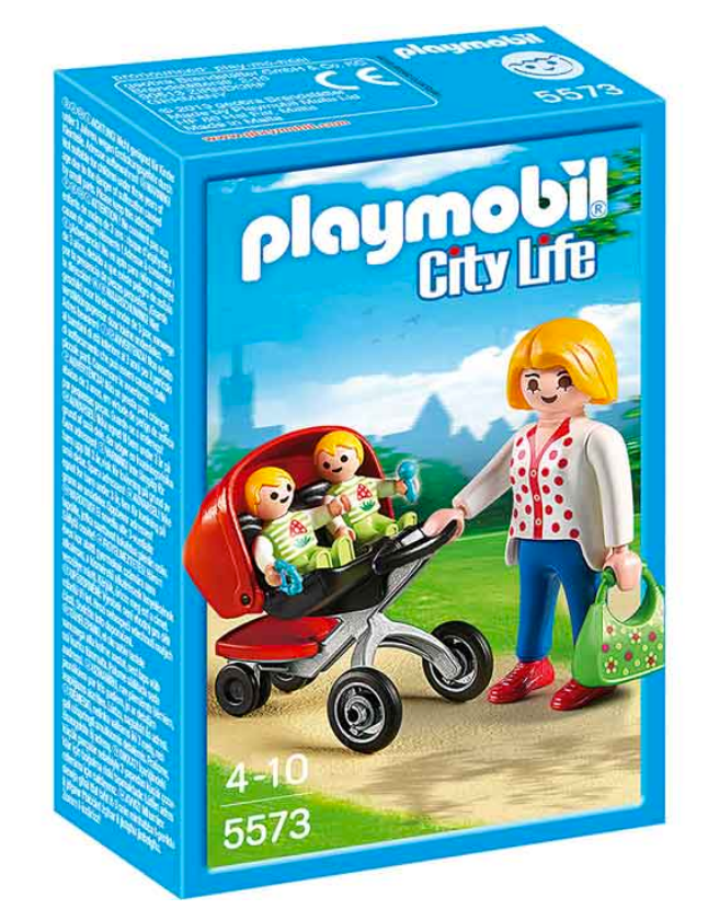 Playmobil Mum with Twins in Stroller 5573