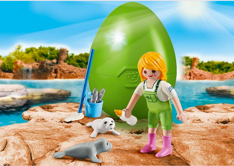 Playmobil Zoo Keeper with Seal Pup 9418
