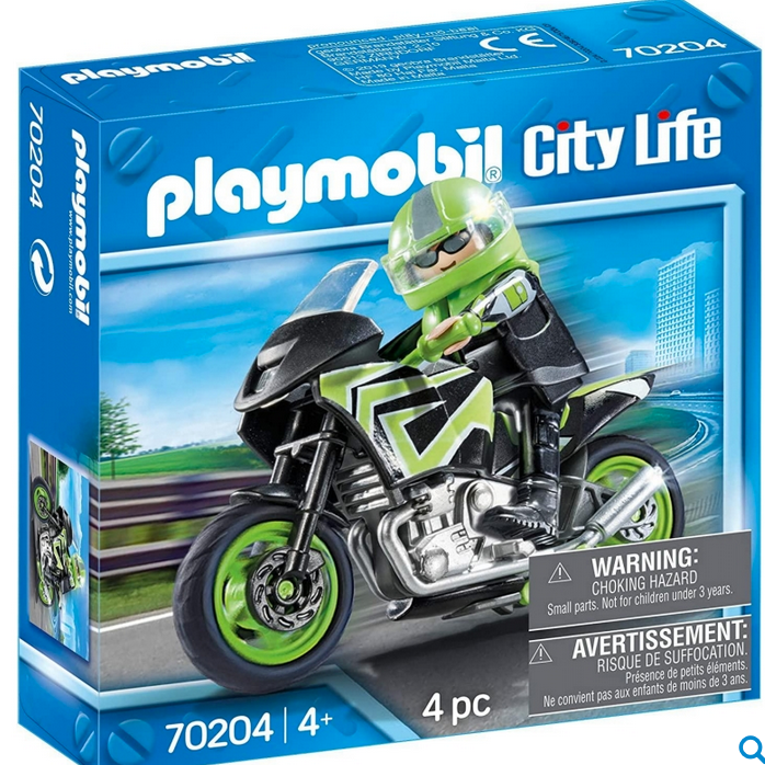 Playmobil Motorcycle with Rider 70204