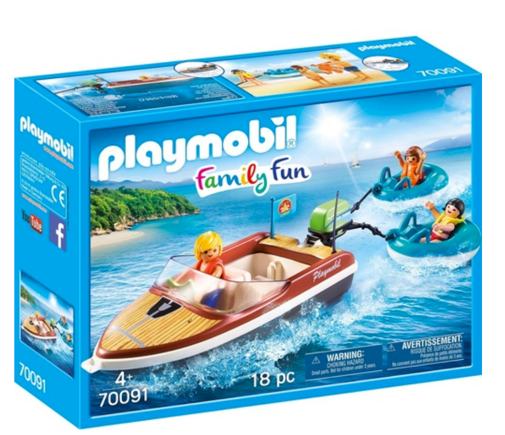 Playmobil Speedboat with Tuberiders 70091