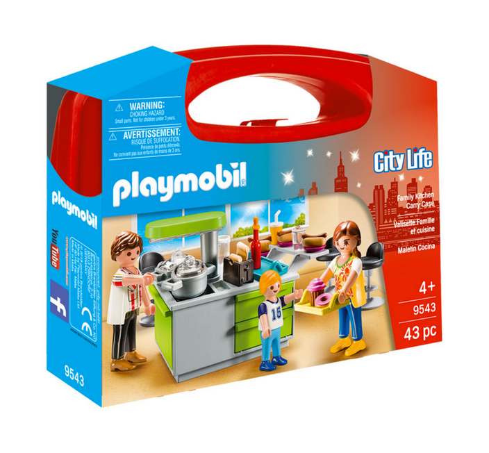 Playmobil Carry Case Family Kitchen 9543