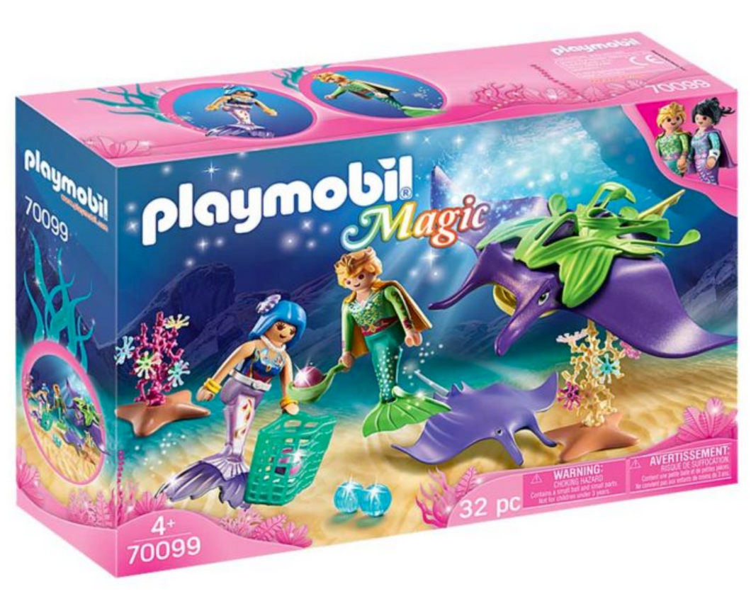 Playmobil Meremiads Pearl Collecters with Mantaray 70099