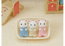 Load image into Gallery viewer, Sylvanian Families Marshmallow Mouse Triplets