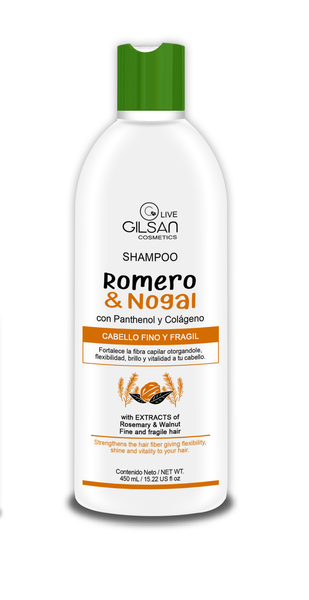 SHAMPOO ROMERO&NOGAL 450 ML