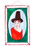 Illustration of a woman wearing a hat