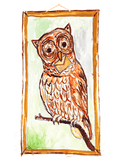 Illustration of an owl with an envelope