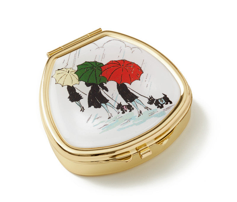 Vintage Inspired Pill Box - Parapluies and scotties - Andrea Garland