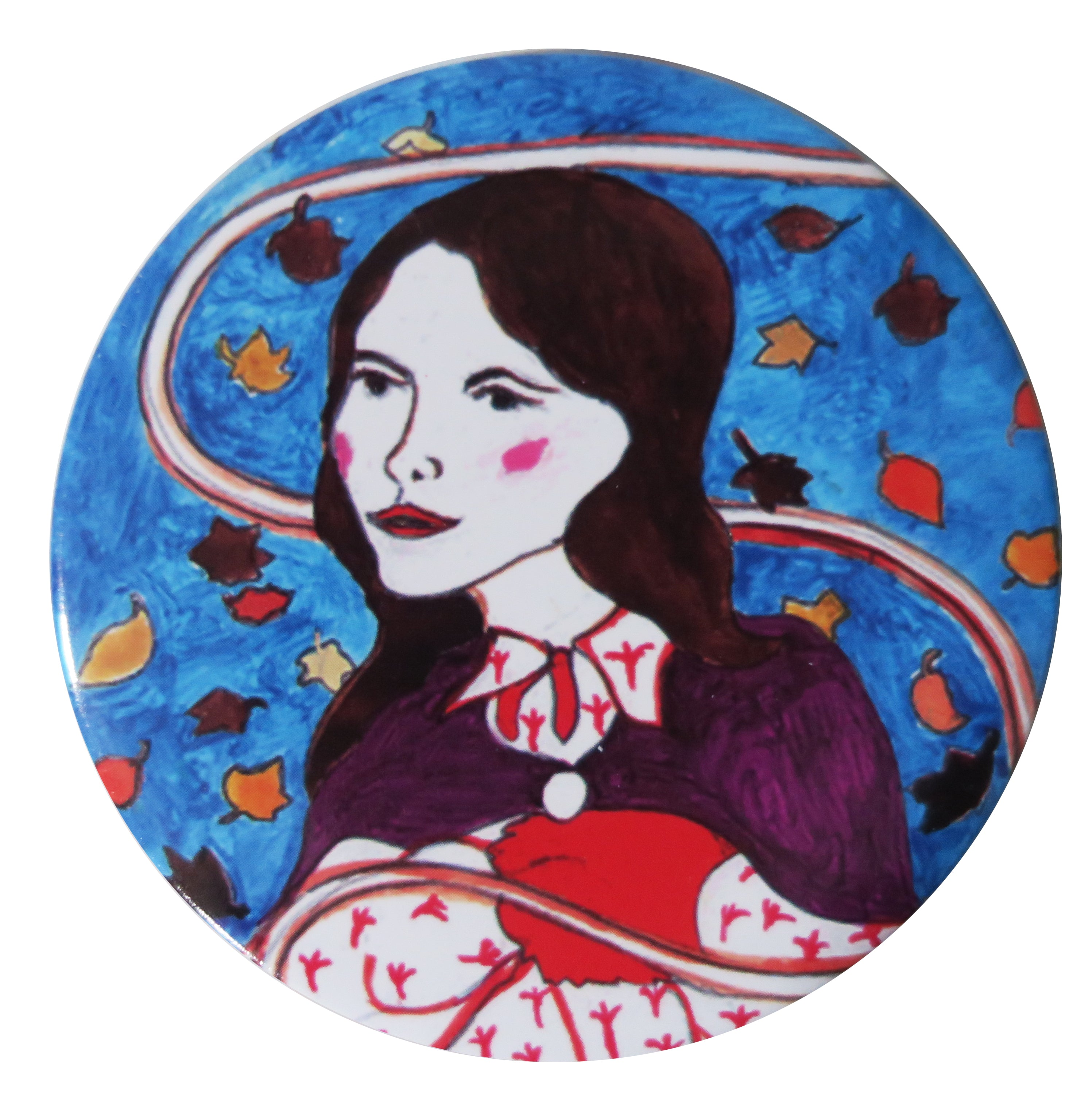Folk Autumn Pocket Mirror - Andrea Garland