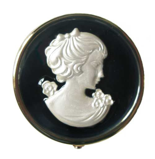 Vintage Inspired Pill Box - Cameo - Andrea Garland