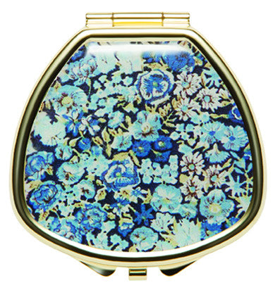 Liberty Print Lip Balm Compact - Chive Blue - Andrea Garland