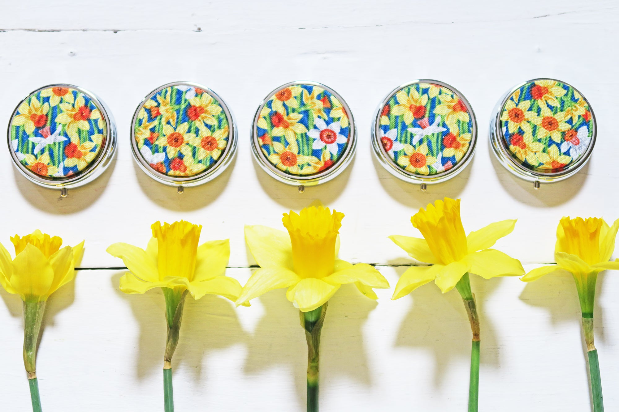 Lip Balm Compact - Springtime Daffodils - Andrea Garland