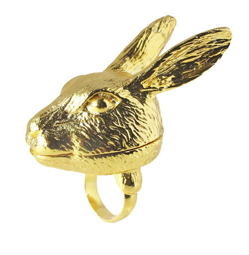 Hartley Hare Lip Balm Ring - Andrea Garland