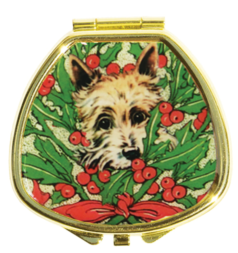 Lip Balm Compact - Hide and Seek Terrier in Holly