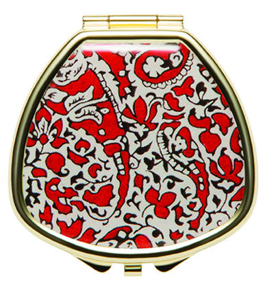 Liberty Print Lip Balm Compact - Lagos Red