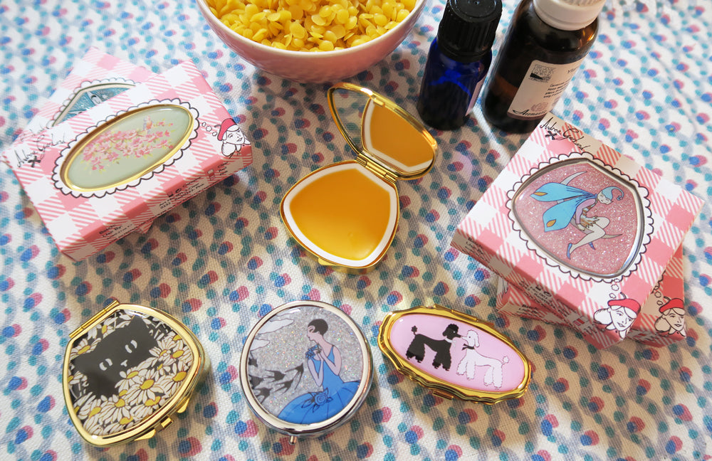 Lip Balm Compact - Hide and Seek Kitty in Holly - Andrea Garland