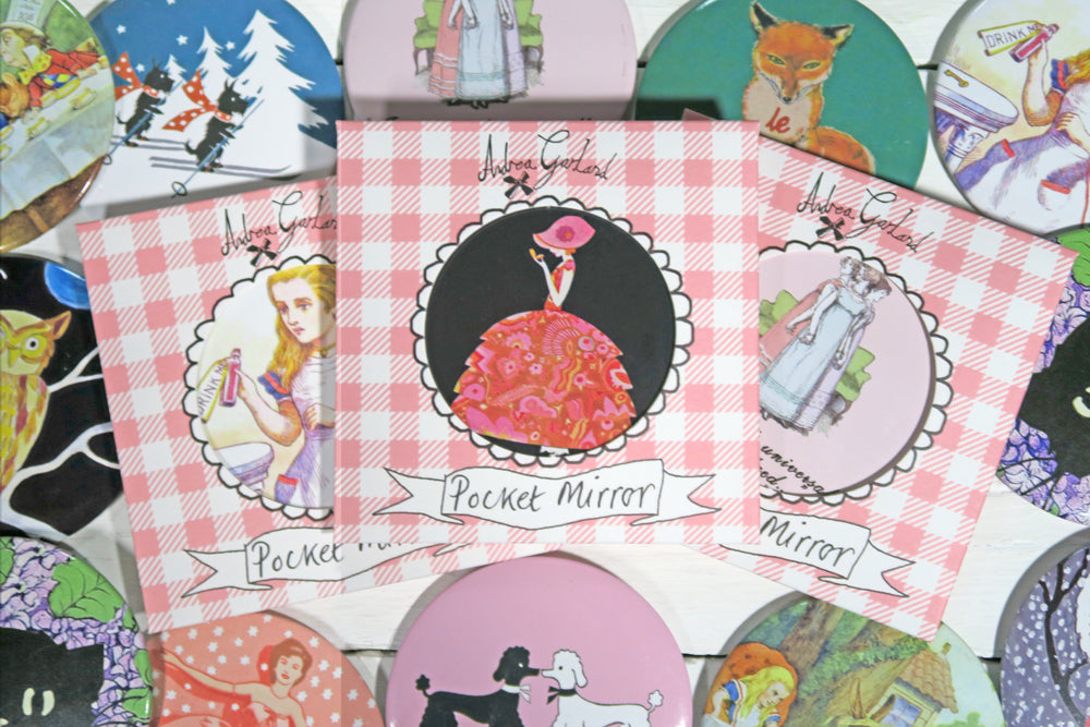 Poodles Pocket Mirror - Andrea Garland