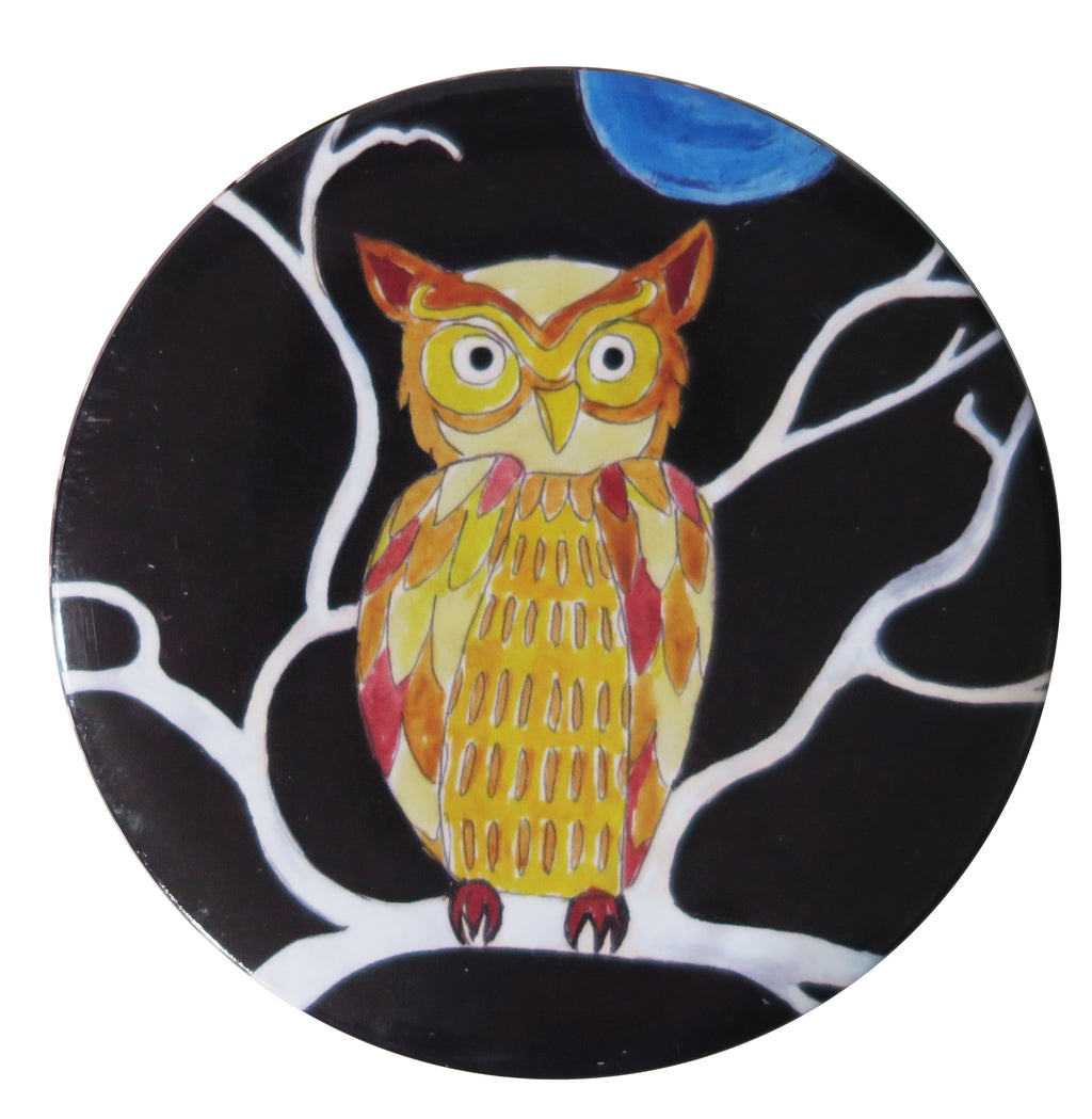 Folk Owl Pocket Mirror - Andrea Garland