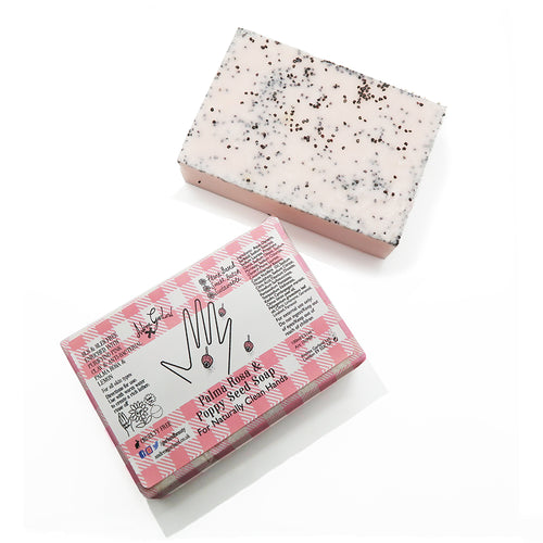 Palma Rosa and Poppy Seed Soap