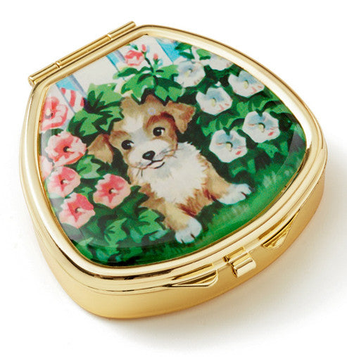 Vintage Inspired Pill Box - Paint by Numbers Puppy Dog - Andrea Garland