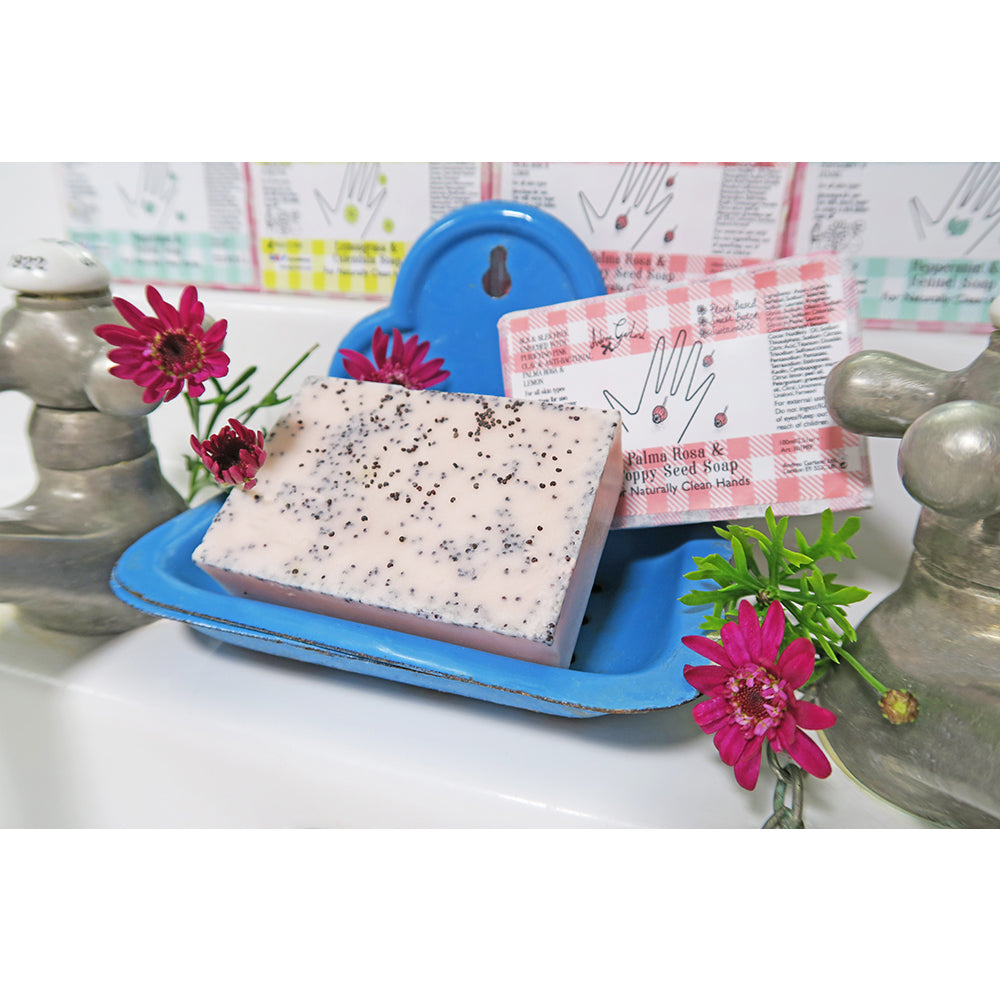 Palma Rosa and Poppy Seed Soap - Andrea Garland