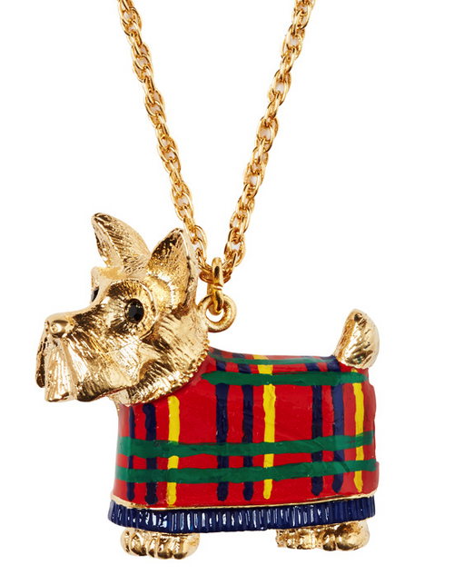 Tartan Toto Scottie Dog Lip Balm Necklace