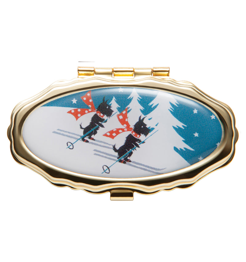 Skiing Scotties - Lip Balm Compact - Andrea Garland