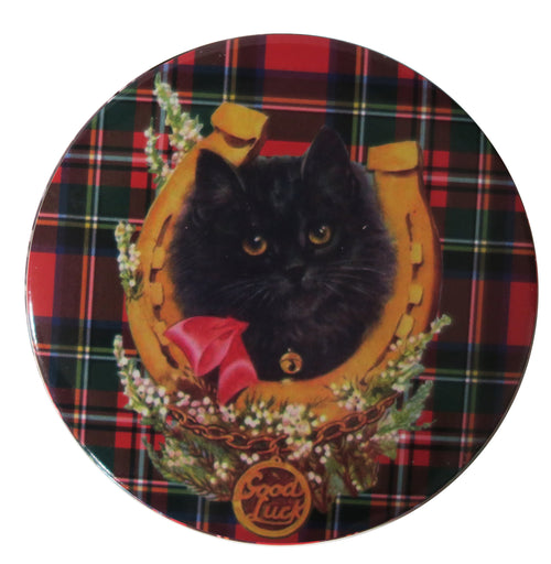Tartan Kitty Pocket Mirror