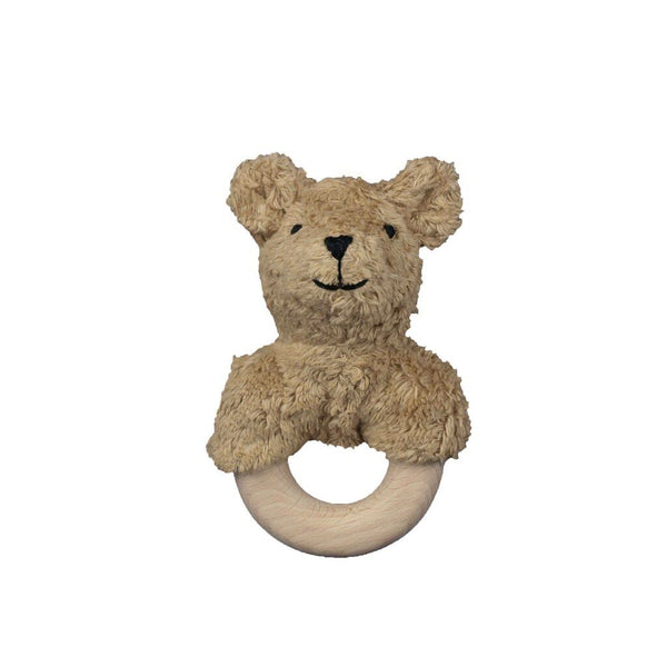 bear with wooden ring