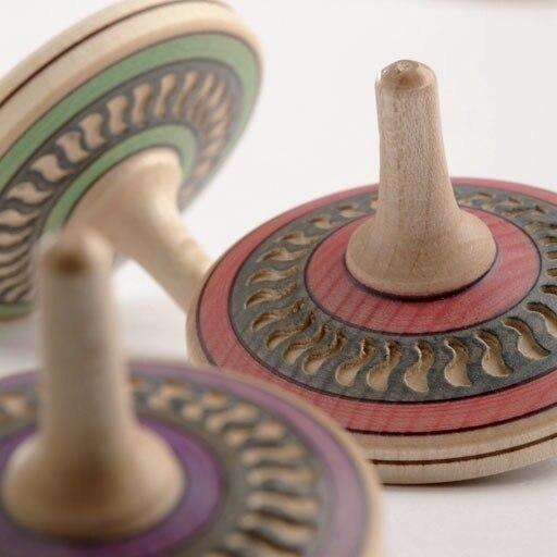 Arabesk wooden spinning top