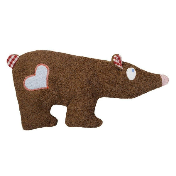 organic cotton & wool brown bear