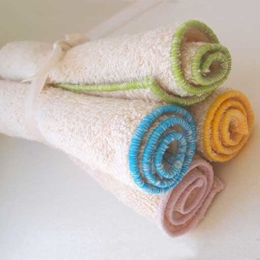 organic cotton washcloths, set of 4