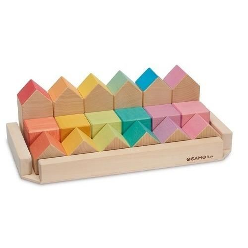 Ocamora Little Houses & Cubes, natural & coloured