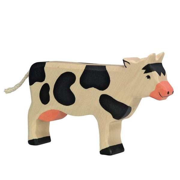 Holztiger black & white cow, standing