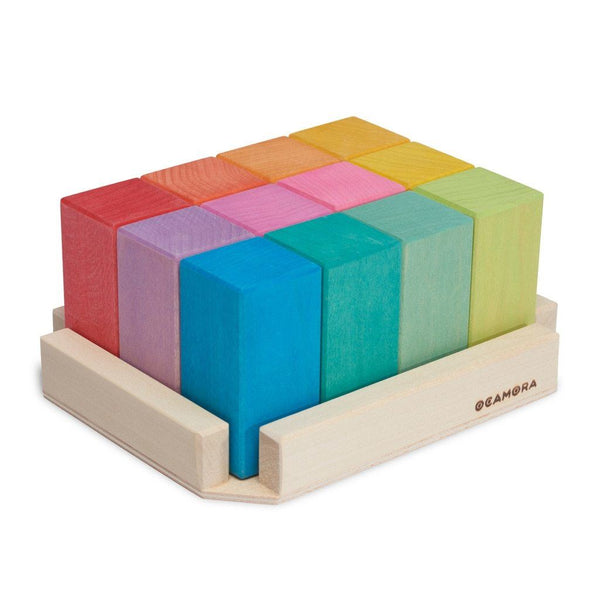 Ocamora 12 rectangular prisms, coloured