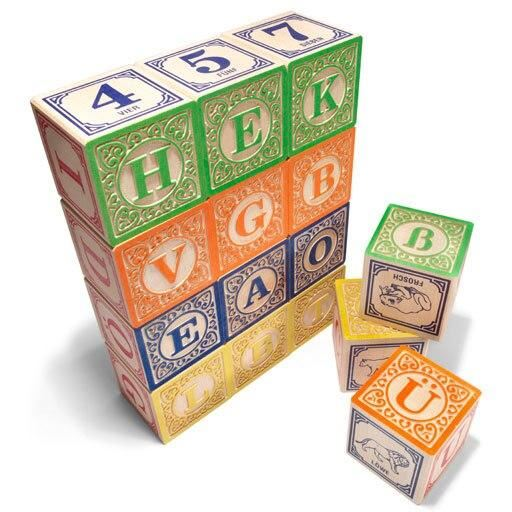 german alphabet blocks (special order)